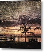 Palms And Docks Metal Print