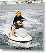 Pamela Anderson Is A Jet Ski Vixen Metal Print