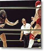 Pampero Firpo Vs Texas Red In Old School Wrestling From The Cow Palace  Metal Print