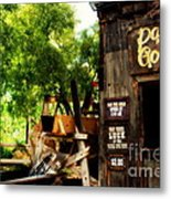 Pan For Gold In Old Tuscon Arizona Metal Print
