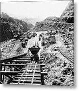 Panama Canal - Construction At The Culebra Cut - C 1910 Metal Print