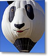 Panda Bear Hot Air Balloon Metal Print