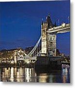 Panorama Of Tower Bridge And Tower Of London Metal Print
