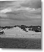 Panoramic Of Lossiemouth Beach On West Coast Of Scotland Metal Print