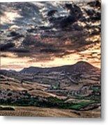 Panoramic Sunset Metal Print