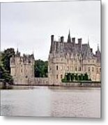 Panoramic View Of Chateau De La Bretesche Metal Print