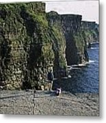 Panoramic View Of Cliffs, Cliffs Of Metal Print