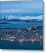 Panoramic View Of Tromso In Norway  Metal Print