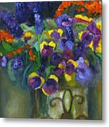 Pansies Metal Print by Susan Hanlon