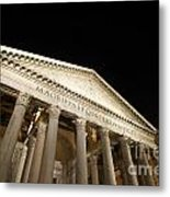 Pantheon At Night. Rome Metal Print