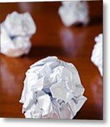 Paper Balls Metal Print by Carlos Caetano