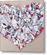 Paper Dump Heart Concept Metal Print