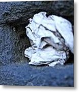Paper In The Wall. Metal Print