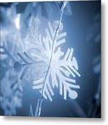 Paper Snowflake Metal Print