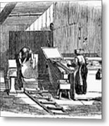 Papermaking, 1833 Metal Print by Granger