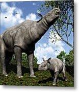 Paraceratherium, Artwork Metal Print