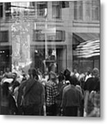Parade Crowd Reflected Metal Print