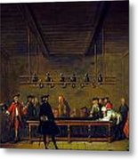Paris: Billiards, 1725 Metal Print