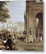Paris: Book Stalls, 1843 Metal Print