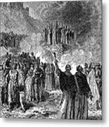 Paris: Burning Of Heretics Metal Print
