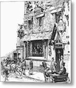 Paris: Cafe, 1889 Metal Print