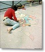 Paris Chalk Art 1964 Metal Print