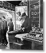 Paris: Chestnut Vendor Metal Print
