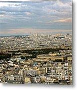 Paris City View Metal Print