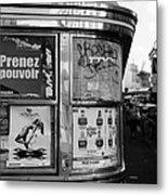 Paris Diner 2 Metal Print