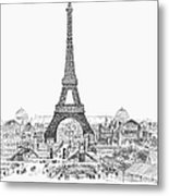 Paris Exhibition, 1889 Metal Print