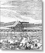 Paris: Les Halles, 1858 Metal Print