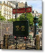 Paris Metro 3 Metal Print
