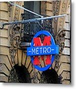 Paris Metro 5 Metal Print