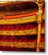 Paris Opera House Iv   Box Seats Metal Print