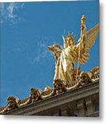 Paris Opera House V   Exterior Facade Metal Print
