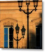 Paris Shadows Metal Print