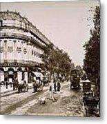 Paris: Street Scene, 1890 Metal Print