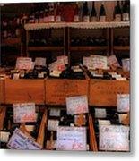 Paris Wine Shop Metal Print