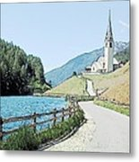 Parish Church St Nicholas Valdurna Italy Metal Print
