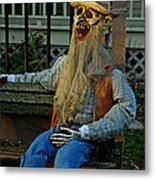 Park Bench Ghoul Metal Print