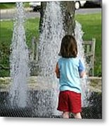 Childhood Waterpark Dreams Metal Print