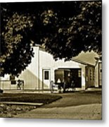 Parked Buggy - Lancaster Pennsylvania Metal Print