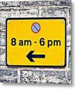 Parking Sign Metal Print