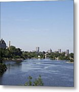 Parliament And Ottawa River  Metal Print