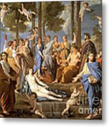 Parnassus, Apollo And The Muses, 1635 Metal Print