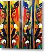 Parrots And Tucans  Metal Print
