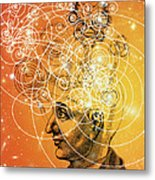 Particle Tracks And Old Cosmology Metal Print