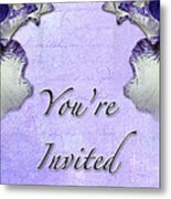 Party Invitation - General - Wild Iris - Blue Flag Metal Print