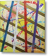 Party-stripes-1 Metal Print by Mordecai Colodner