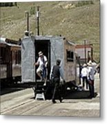 Passengers Getting Off The Galloping Goose Metal Print
